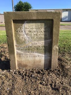 Headstone After Cleaning Before Moving to Dow Park
